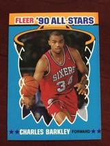 1990-91 Fleer - Charles Barkley - All Star Sticker #1 - $0.99