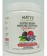 Maty's All Natural Super Berry Immune Support + Vitamin D3 Powder 30 Ser... - $18.80