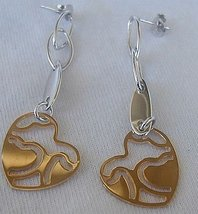 Broken heart earrings - $24.00