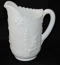 "IMPERIAL Glass Milk White Windmill Creamer Pitcher 6.5"" - $14.00"