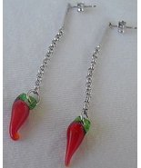 Red pepper earrings - $19.00