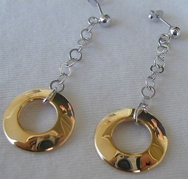 Primary image for Dangling golden rings earrings