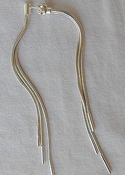 Silver dangaling earrings a