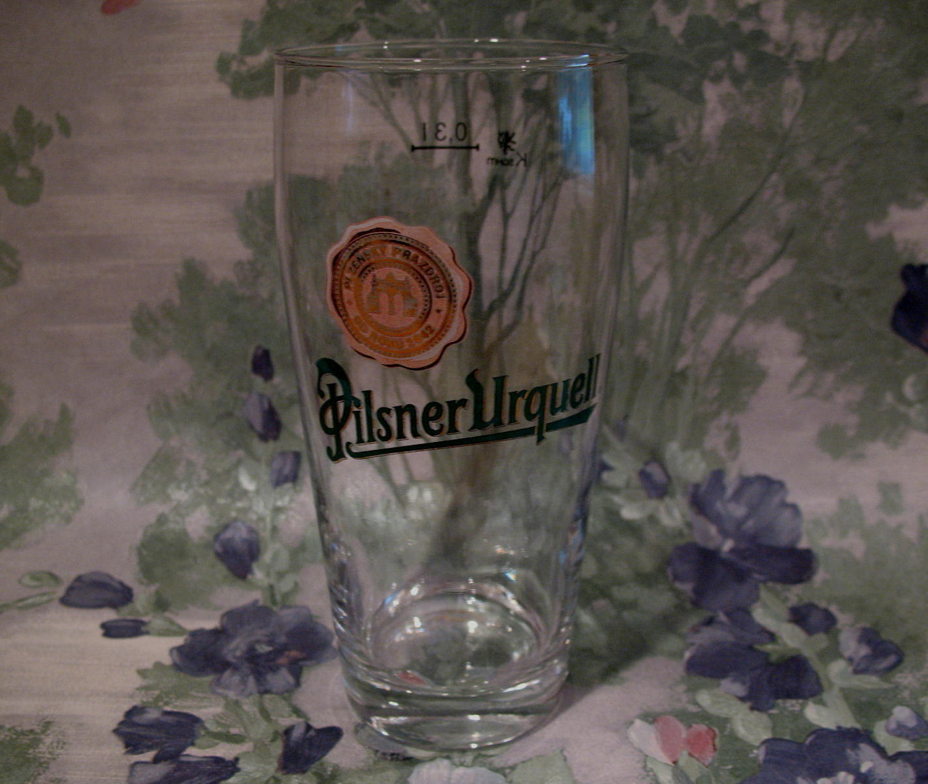 Primary image for Pilsner Urquell Beer Glass Vintage Souvenir Ale Old Roku Logo