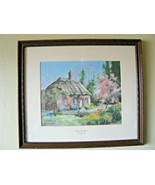 """MARTY BELL """"CHERRY TREE THATCH"""". LIMITED HAND SIGNED LITHOGRAPH 527/2400... - $108.85"""