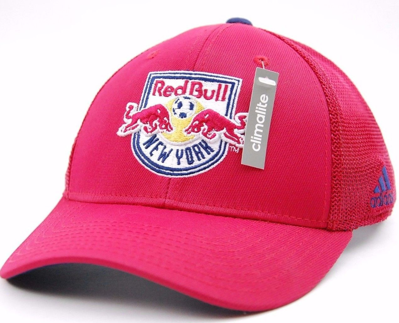 Primary image for New York Red Bulls FC adidas M520Z MLS Net Burner Team Logo Soccer Cap L/XL