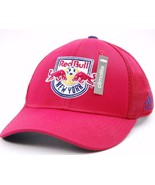 New York Red Bulls FC adidas M520Z MLS Net Burner Team Logo Soccer Cap L/XL - $20.85