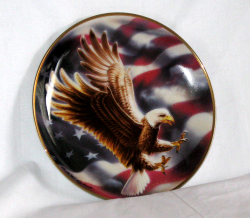 Limited Edition The American Eagle Plate FINE PORCELAIN by t - $13.75
