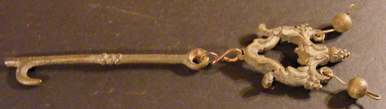 Antique Skeleton Key with Ornate Fob