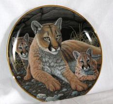 Limited Edition Mountain Lions Fine Porcelain Franklin Mint - $13.75