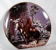 Mystic Warrior Fine Porcelain Collectible Plate Mint - $13.75