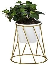 Planter Pot Indoor Flowerplus 4.33 Inch White Ceramic Medium Succulent C... - $23.56