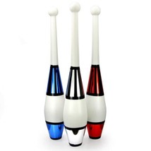 Juggling Clubs Set of 3 - One-piece Euro Style with Decorative Metallic ... - $29.39