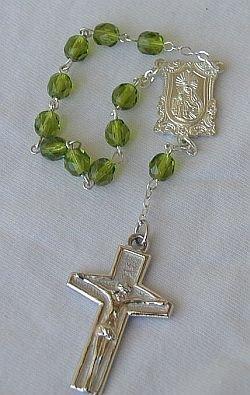 Mini peridot rosary