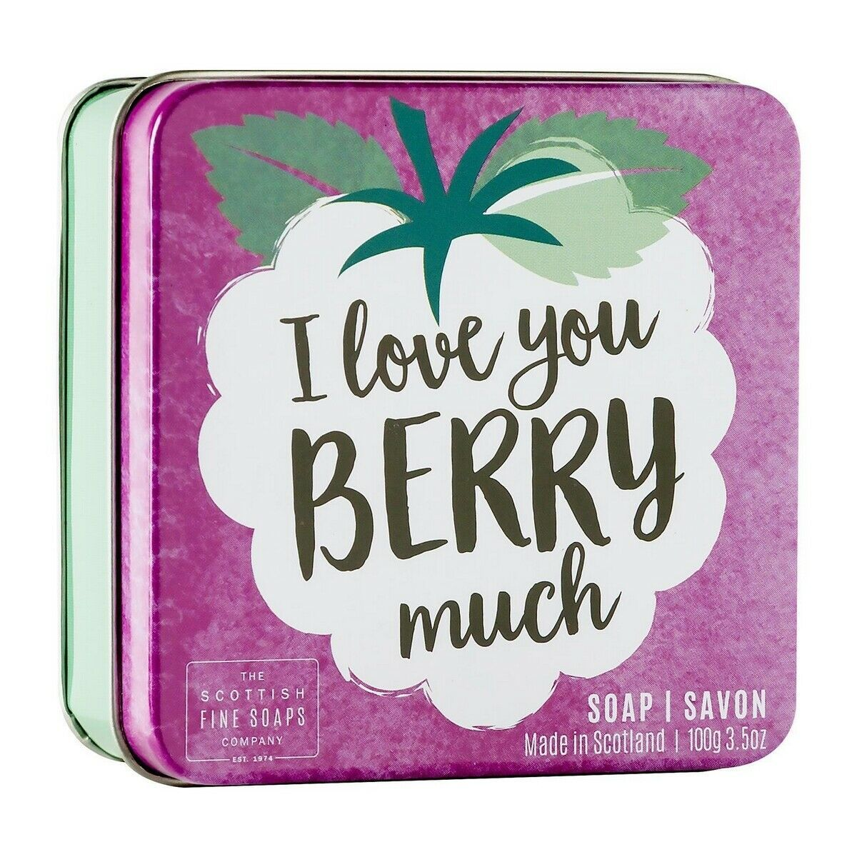Scottish Fine Soaps I Love You Berry Much Soap in a Tin 100g 3.5oz