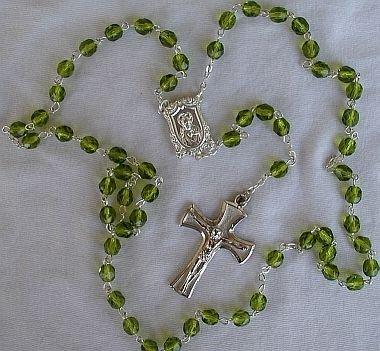Peridot rosary