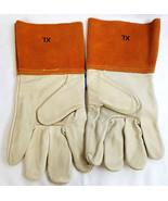 Leather X-Large Multi-Task Industrial Garden Carpenter Work Gloves Tan B... - $14.99
