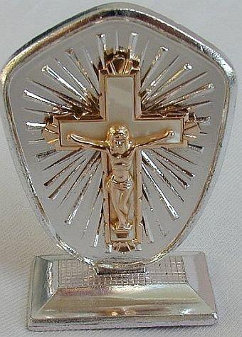 Mini Christ statue.