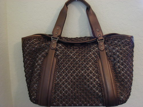 Cole Haan Bronze Leather Sierra Carryall Tote $425++