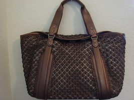 Cole Haan Bronze Leather Sierra Carryall Tote $425++ - $149.99