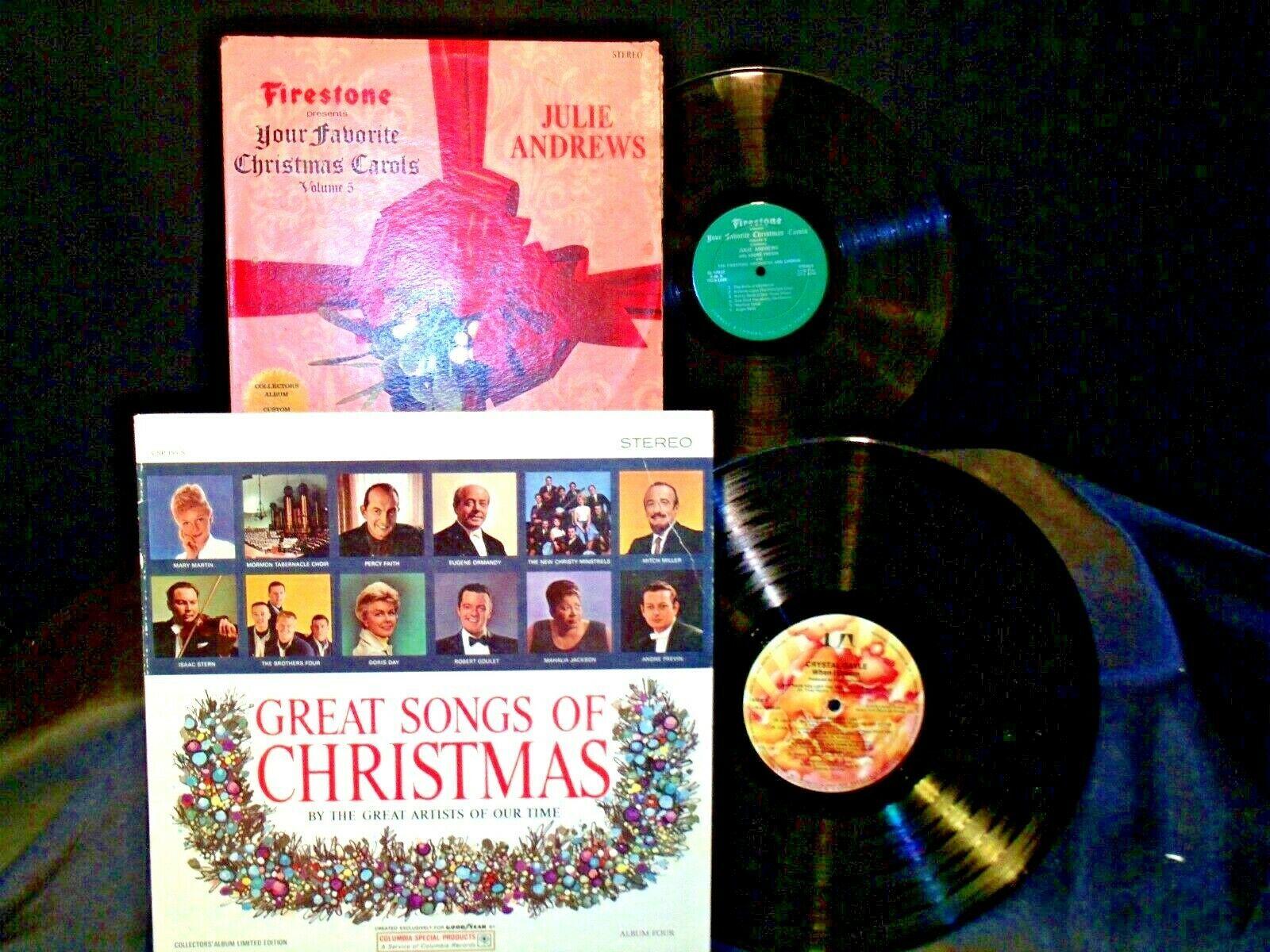 Great Songs Of Christmas and Favorite Christmas carols 5 Records AA-191758 Vinta