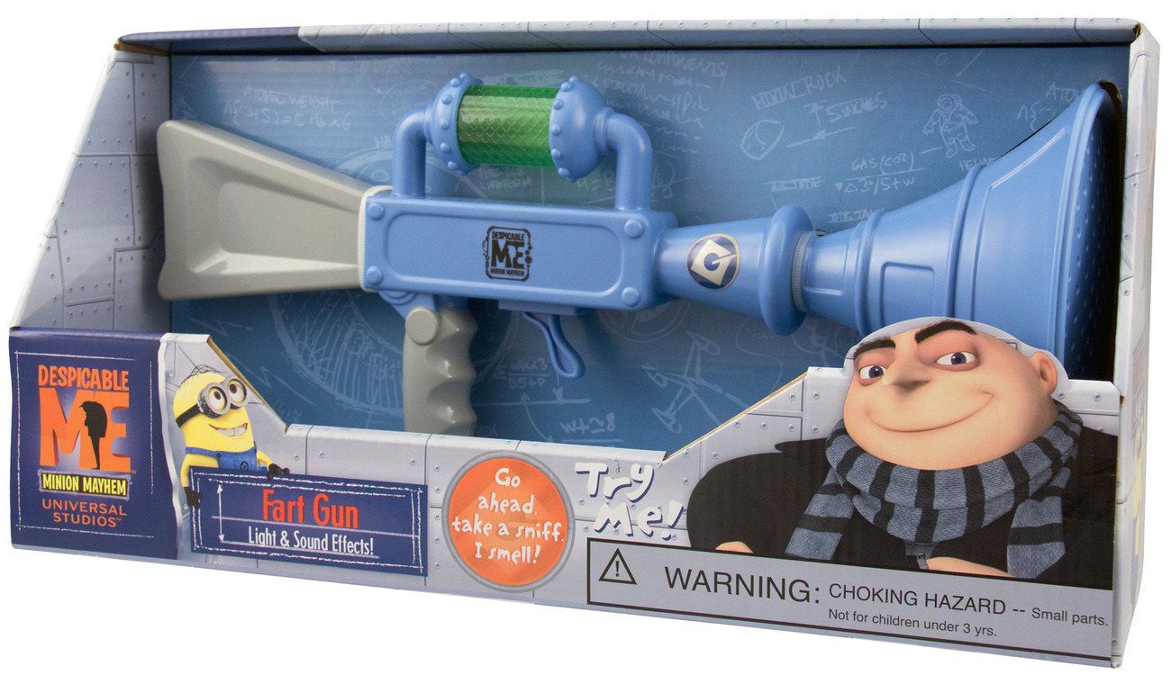 Despicable Me Gru's Fart Gun Toy Minion Mayhem Lights Sounds NEW