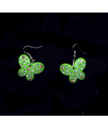 FREE WITH PURCHASE~ Green Acrylic Butterflies With Ab Crystals - $0.00