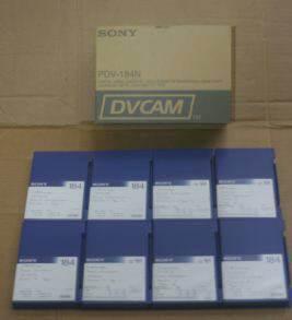 Box of 10 Made in Japan Sony PDV-184N DVCAM 184min Data Tape Cartridge