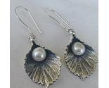 Silver pearl earrings b thumb155 crop