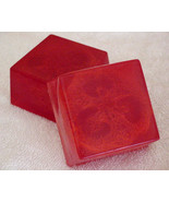 2 Red Apple Handmade Loofah Bar Soap by Berrysweetstuff.com 2 BARS - $9.50