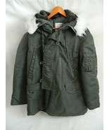 Mens Alpha Industries Extreme Cold Weather Parka Type N-3B Green Size L - $75.00