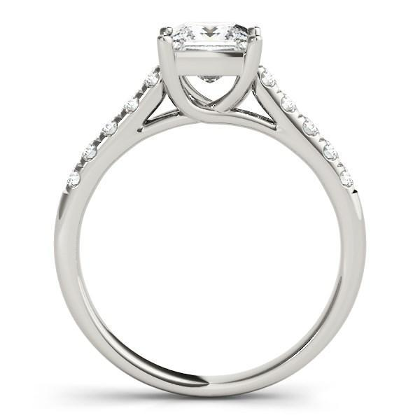 14k White Gold Trellis Set Princess Cut Diamond Engagement Ring (1 1/4 cttw)