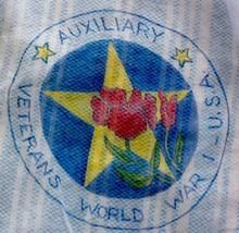 Vintage 60's Sheer Blue Half Apron WW1 Women's ArmyAuxiliary WAC commemo... - $34.64