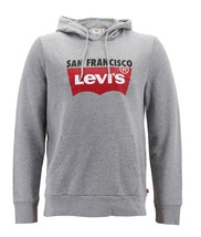 Levi's Men's Pullover Logo Graphic Hoodie San Francisco Red Tab Cotton Sweater image 2