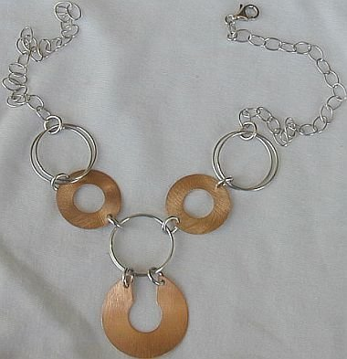 6rounds cooper and silver necklace