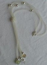 Silver strips necklace  - $66.00