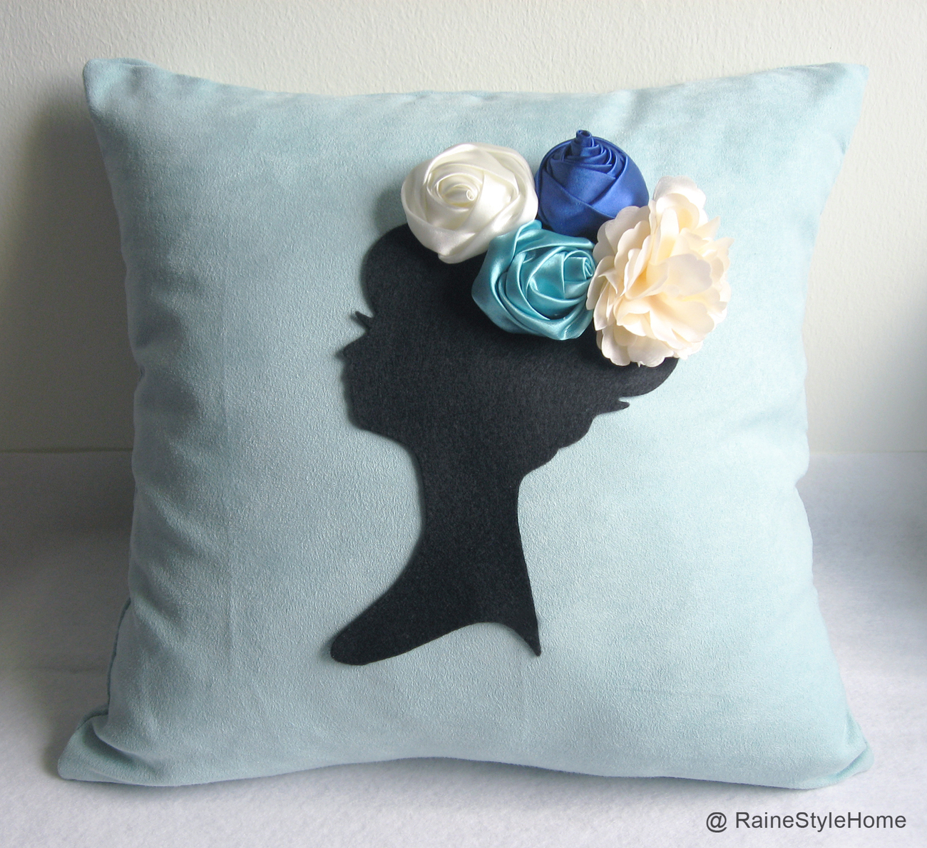 Dreaming Of Spring Black Cameo Purple Pillow Cover. Bridal
