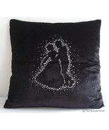 SALE. Wedding Edition. Lets Dance Black Velour Embellished Pillow Cover - $30.90
