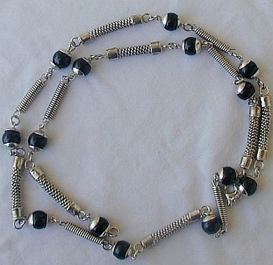 Primary image for Maskit onyx and metal necklace