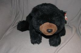 "Ty Classic Plush 18"" Black Bear Paws Floppy Stuffed Animal Bean 1992 NEW - $19.79"