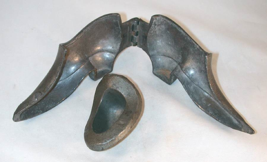 Vintage Pewter Ice Cream Mold A Lady's Shoe Marked ES Co. NY 899A