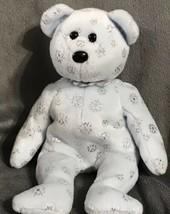 """Ty Beanie Baby Flaky (Bear 2002) 9"""" Gift Christmas Holiday Snow Bean Bear - $11.14"""