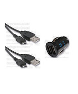 Dual Universal Car Charger + 2X USB Data Sync Cables Samsung Galaxy S4 I... - $12.12