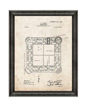 Landlord's Game Patent Print Old Look with Black Wood Frame - $24.95+