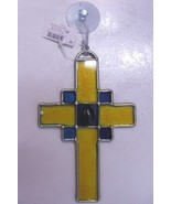 New Stained Glass Religious Cross Mult Colors Easter - $6.99