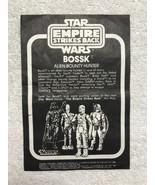 Star Wars ESB 1980 Vintage Bossk Paper Insert Mail Away Sheet *Matte* - ... - $43.53