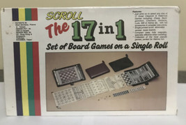 New Scroll 17 In 1 Board Game On A Single Roll 17 Games Total - $14.24