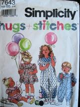 Simplicity 7643 Vintage Girls 2 to 4 Uncut Pattern Romper Dr - $6.95