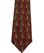 NEIMAN MARCUS silk suit TIE paisley rust-wine S... - $21.99