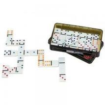 28pc Double 6 Color Dot Domino Table play Set  - $10.39